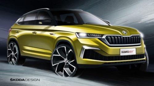 Škoda zveřejnila skici nového SUV-kupé KAMIQ GT pro Čínu