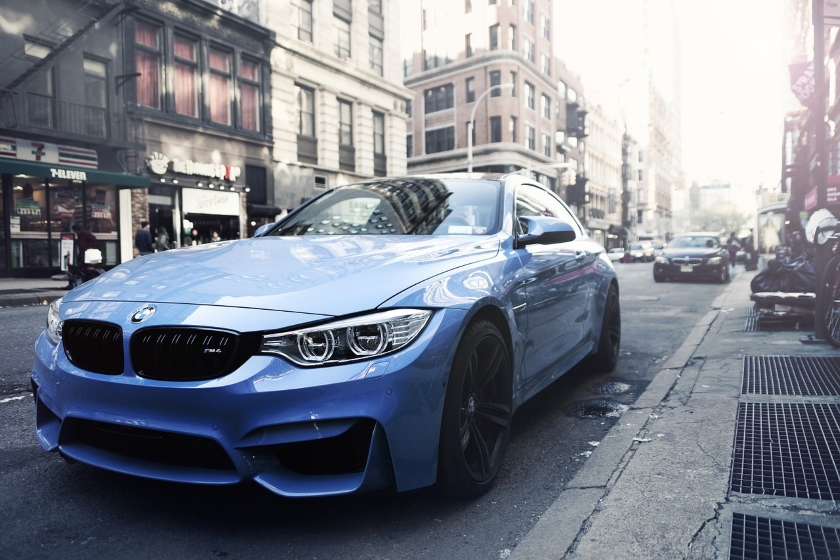 BMW car in the city