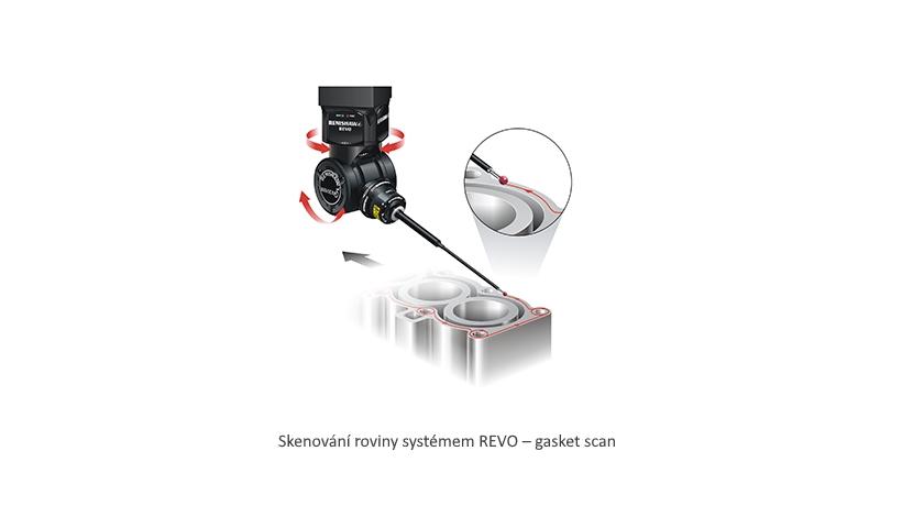 Skenování roviny systémem REVO gasket scan