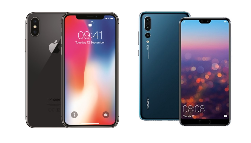 iPhone Huawei P20