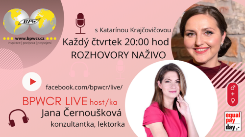 Zítřejší BPWCR LIVE bude s Janou Černouškovou